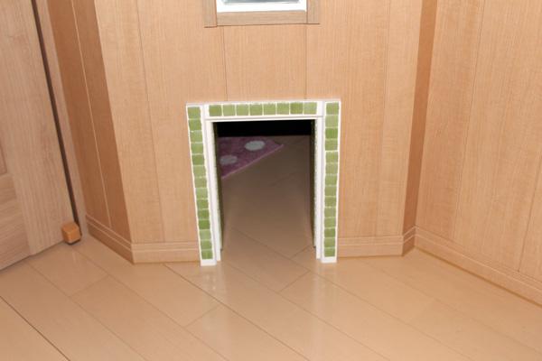 専用の通り道を造作し猫も快適に部屋を行き来できます。