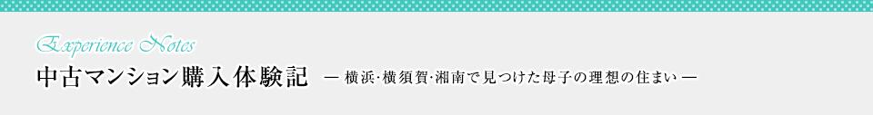 中古マンション購入体験記―横浜・横須賀・湘南で見つけた母子の理想の住まい―