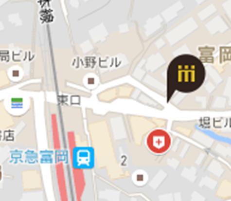富岡駅前店地図