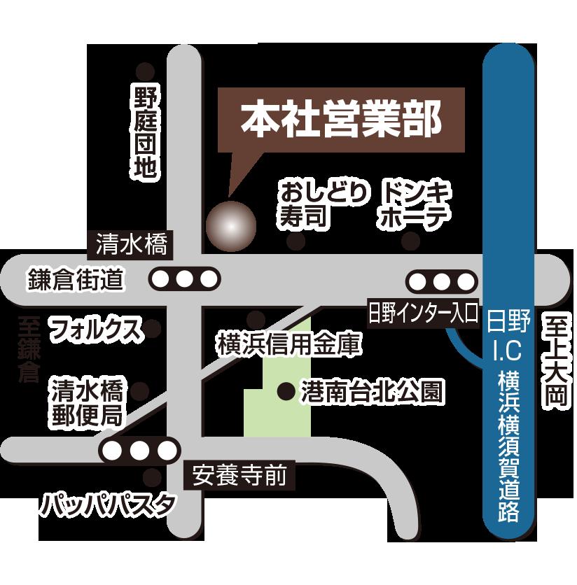 本社営業部地図