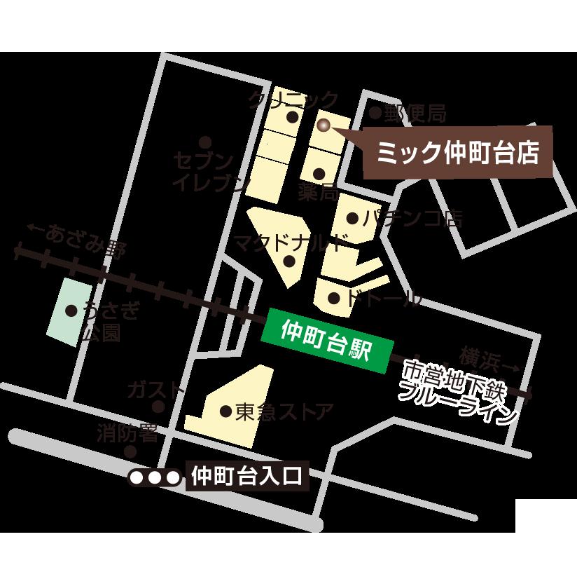 仲町台店地図
